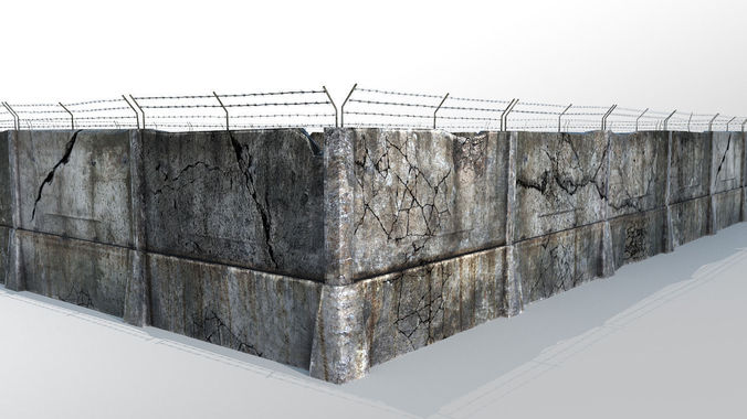 fence detailed 3d model max obj mtl 1