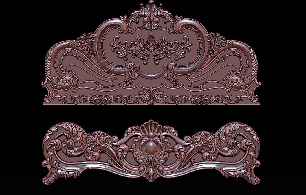 Classic Bed  3D relief models