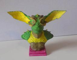 creature bust 3d print model