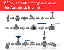 3d autodesk inventor cad library - piping no 1