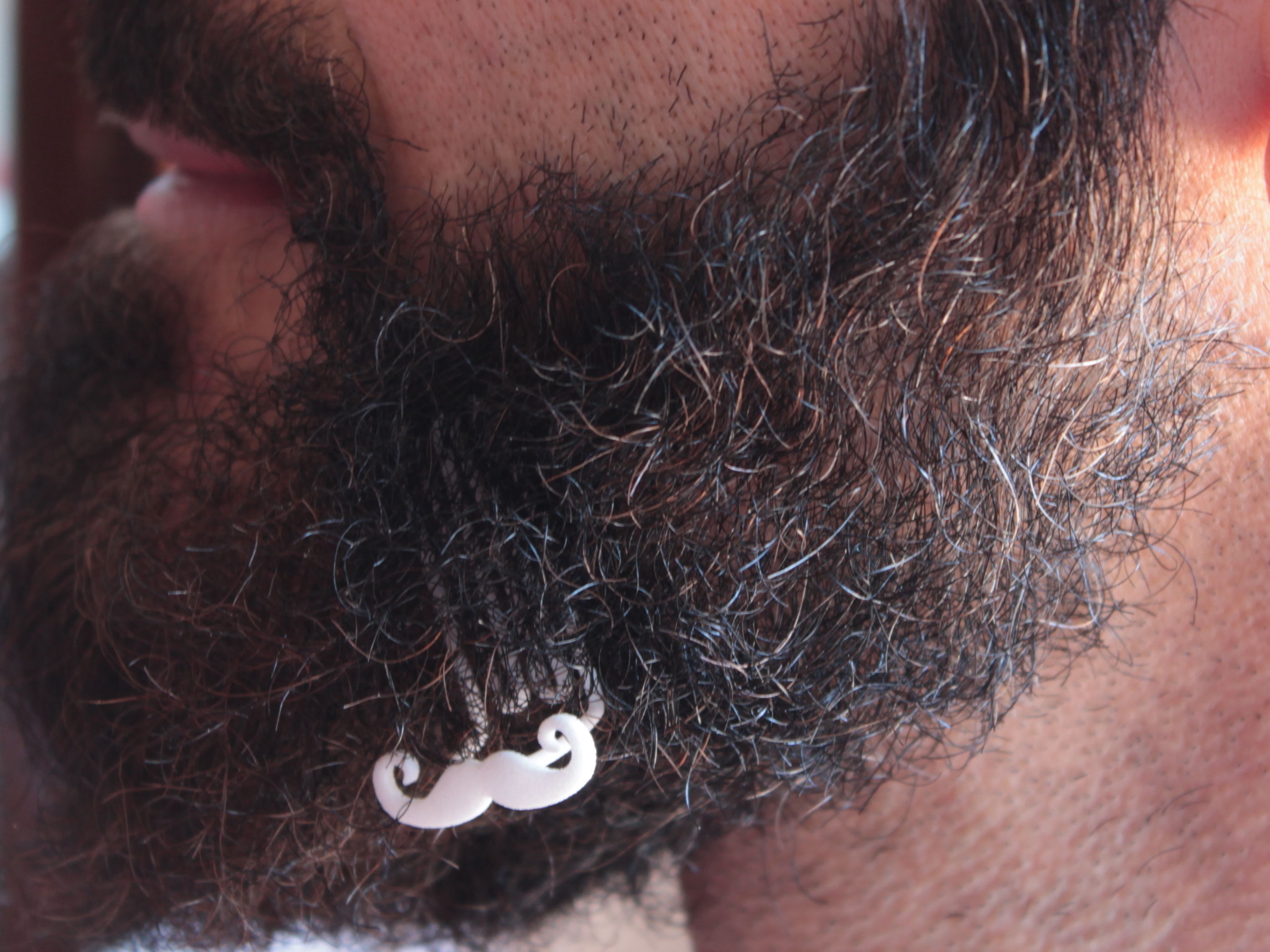 Mustache for beard - lateral wearing