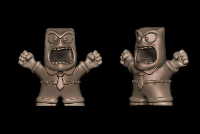 Anger - InsideOut 3D Model 3D printable STL