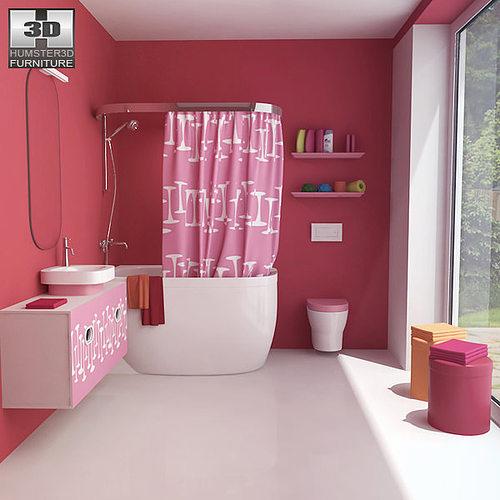bathroom 07 set 3d model low-poly max obj mtl 3ds fbx c4d lwo lw lws 1