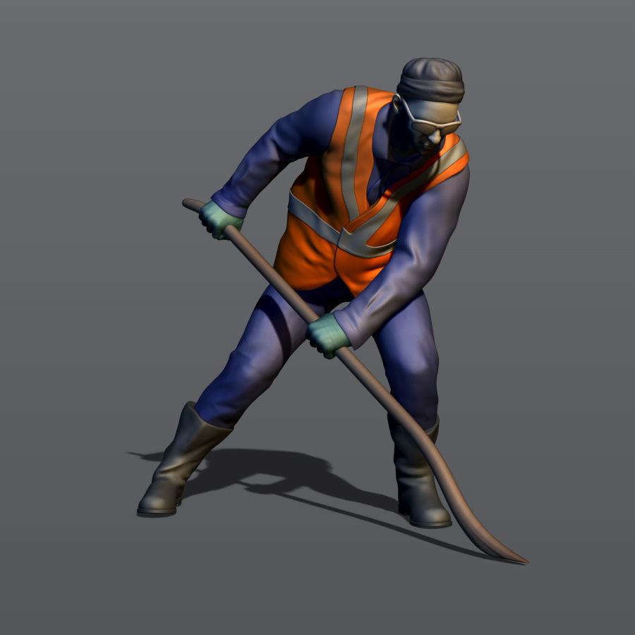 Railwayman with a crowbar