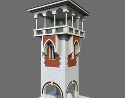 3d architecture tower