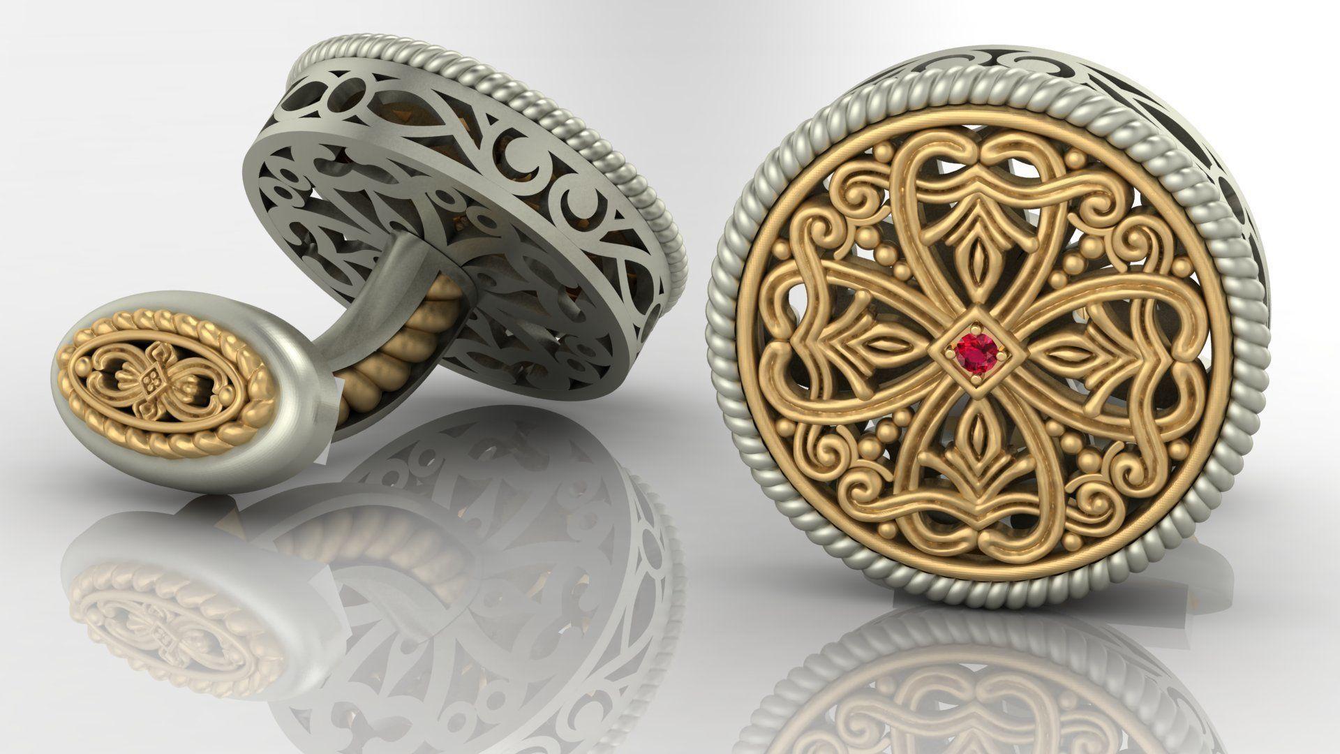 Cufflinks with creative patterns