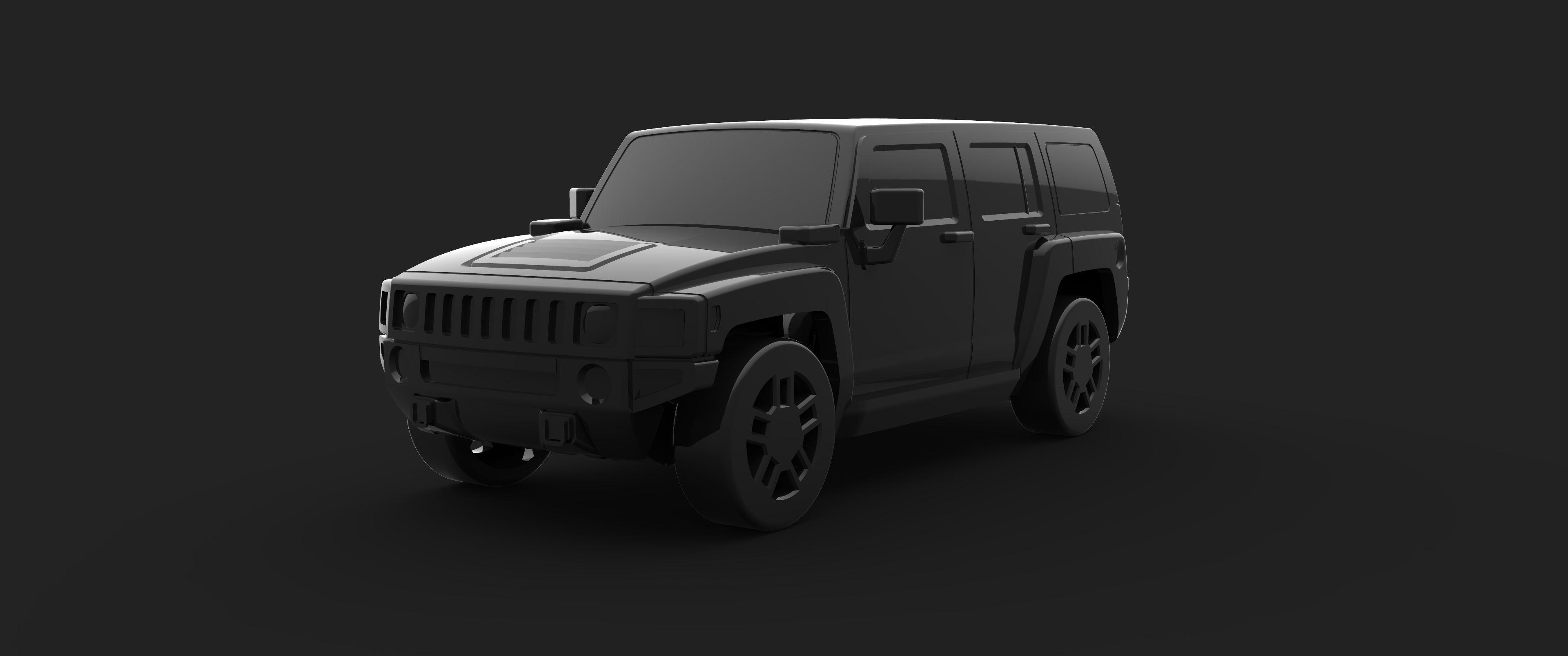 Hummer H2  3D print model