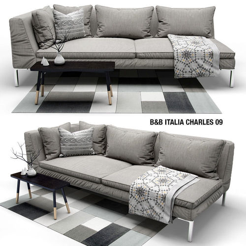 Good Sofa B And B ITALIA CHARLES 3D Model