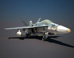 3D model F18 Military Aircraft