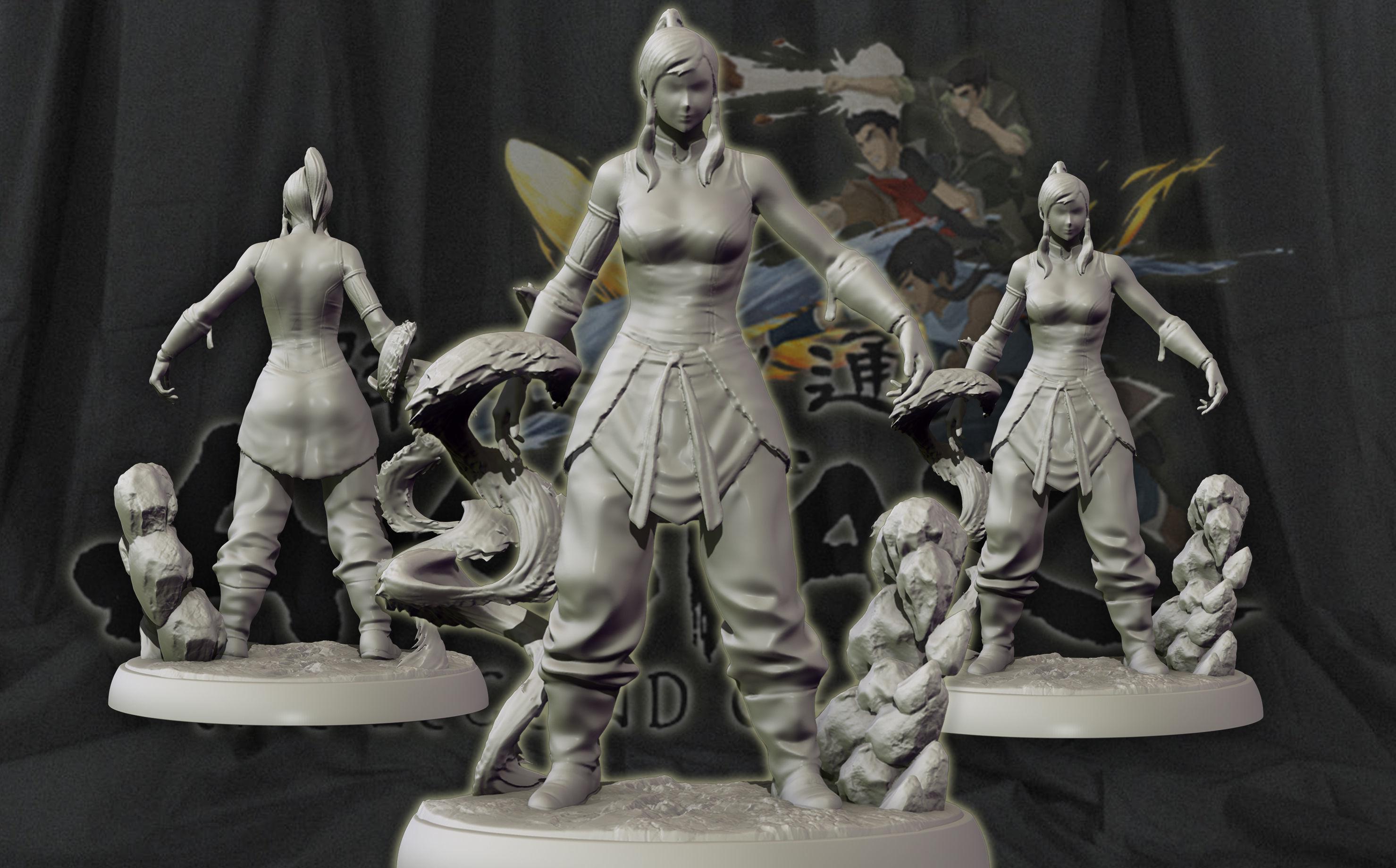 Korra 3d print figurine - The Legend of korra