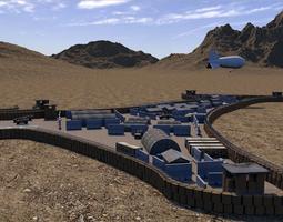3D model Forward Operating Base