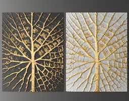gold Panel painting 3D