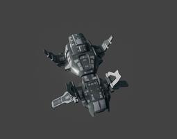 3d model scifi spaceship bomber