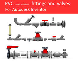 autodesk inventor cad library - piping no 3 3d