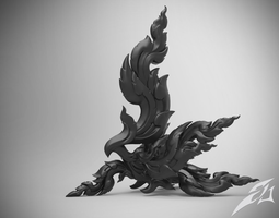 3d printable model kinnaree - thai art sculpture