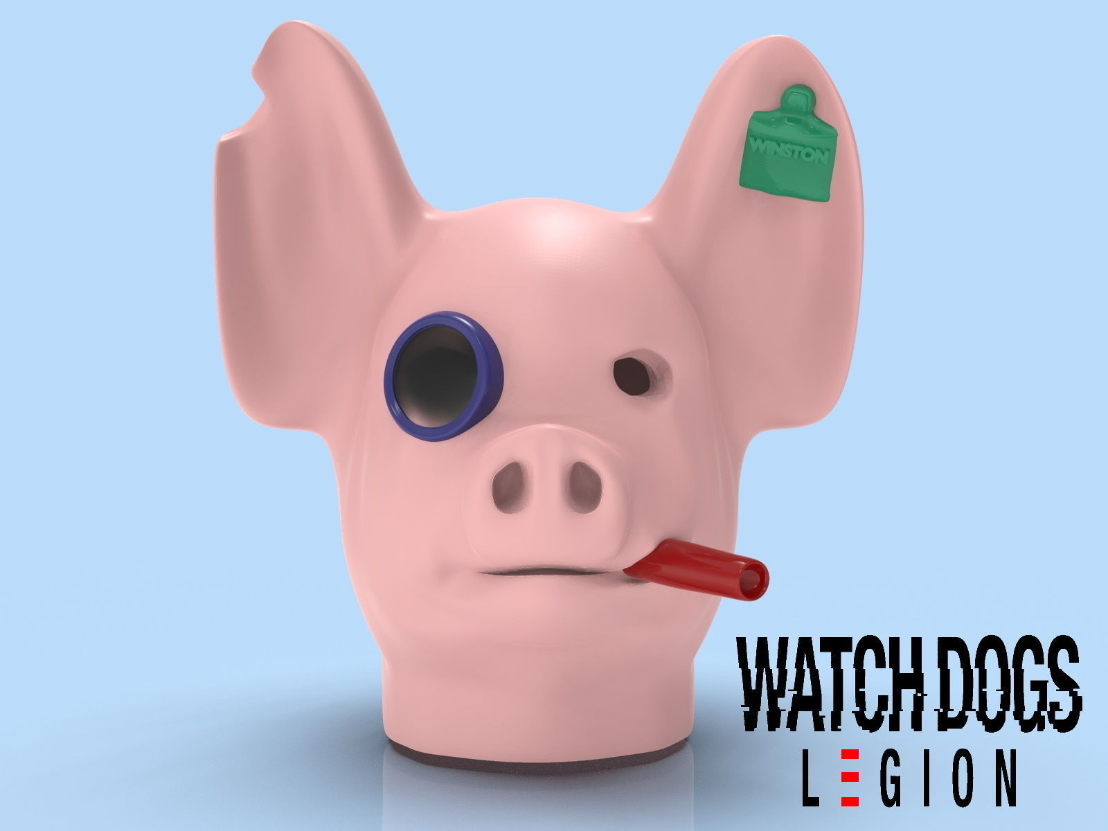 Watch Dogs Legion Game Cosplay Mask 3d Model For Print