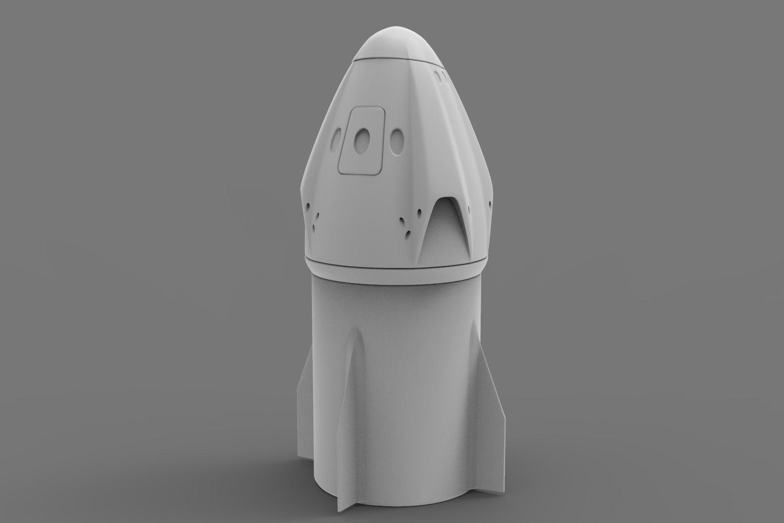 Space X Dragon Crew printable Spaceship