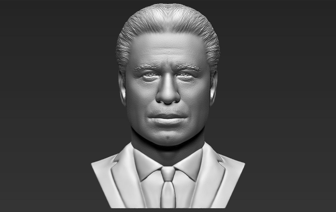 John Travolta bust 3D printing ready stl obj formats