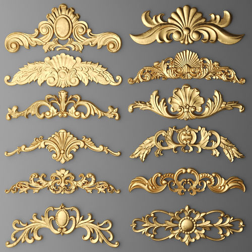 cartouches set 7 3d model max obj mtl fbx stl unitypackage prefab 1