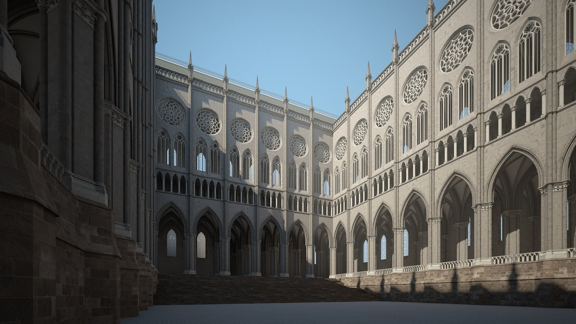 Courtyard of a Gothic Temple