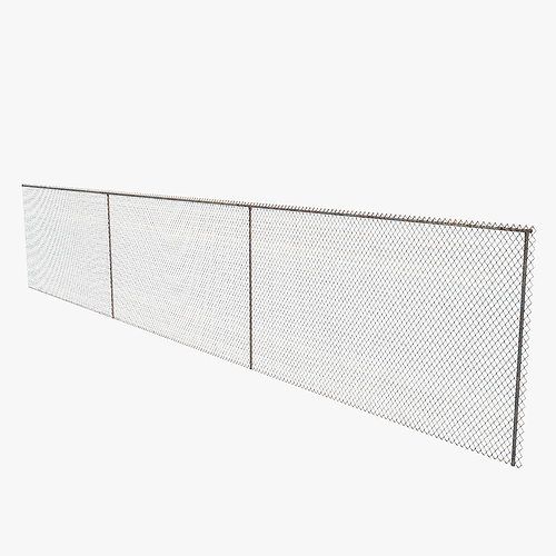 chain link fence 3d model max obj mtl 3ds c4d stl 1