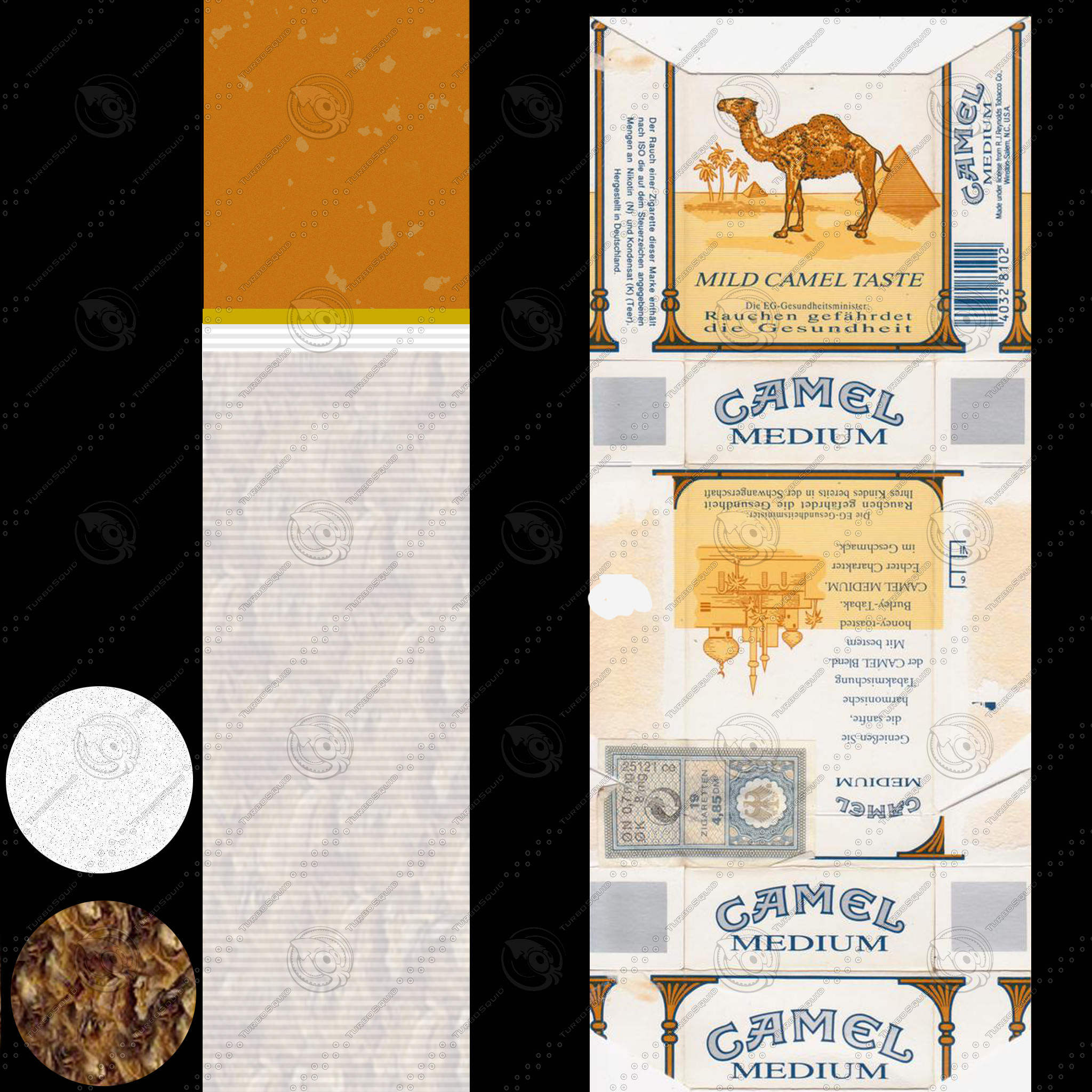 Camel mild cigarette pack 3D Model MAX OBJ 3DS C4D MTL ...