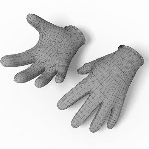 glove troy lee 3d model max obj mtl c4d 1