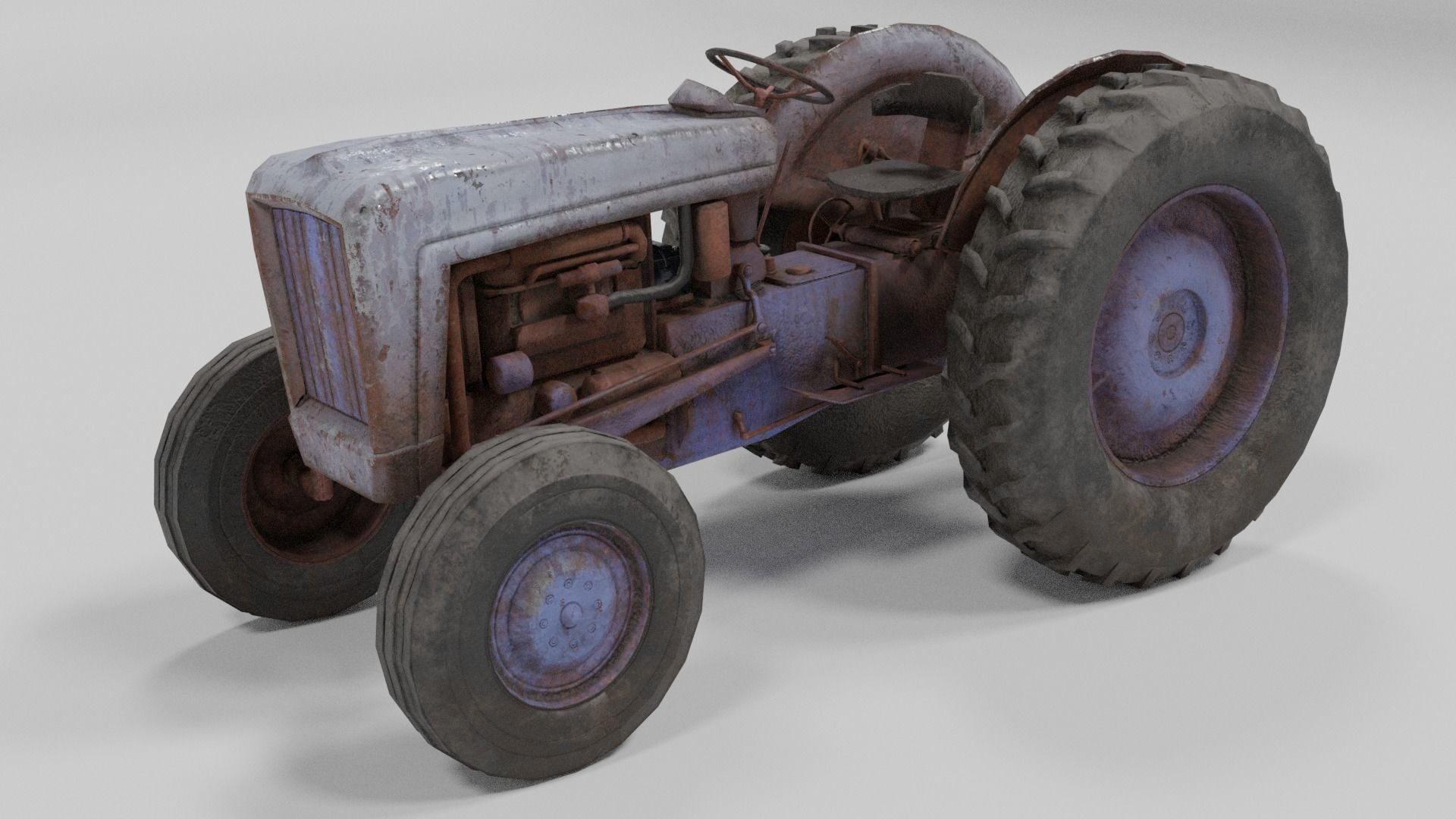 Old Tractor low poly