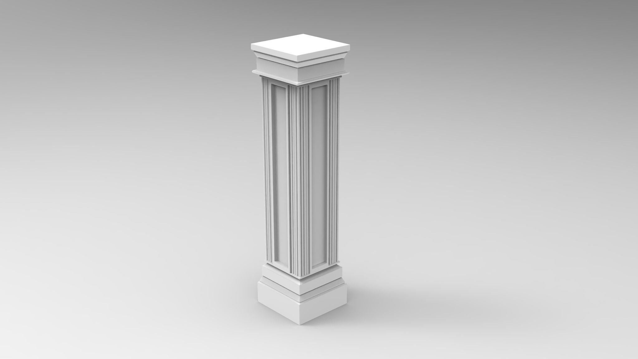 iconic square pillar column for 3D print
