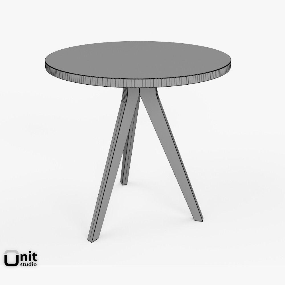 tripod tablewest elm free 3d model max obj 3ds fbx dwg