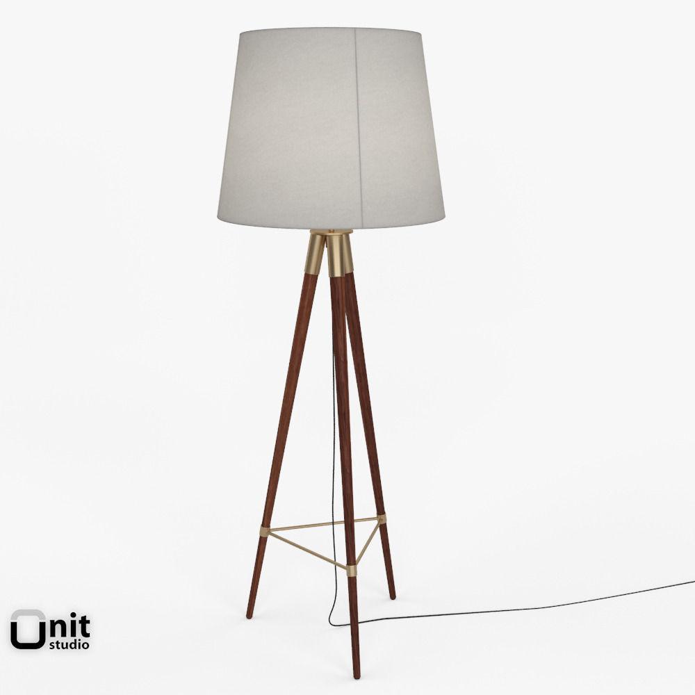 3d mid century tripod floor lamp by west elm cgtrader mid century tripod floor lamp by west elm 3d model max obj 3ds fbx dwg aloadofball Gallery