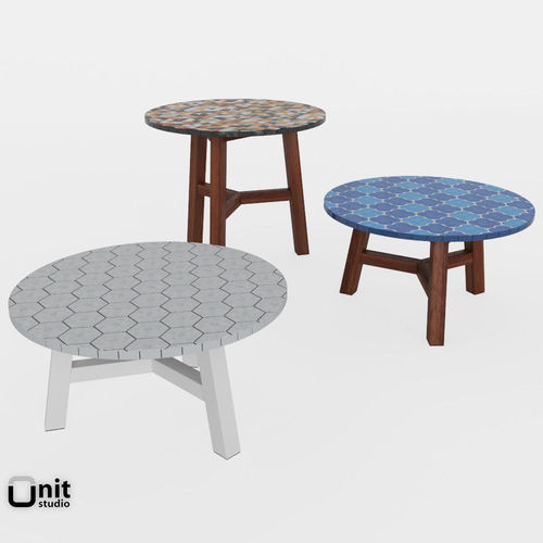 Mosaic Coffee Table By West Elm 3D Model