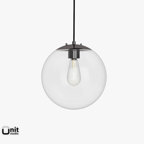 3D Model Globe Pendant Lamp By West Elm