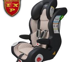 Car seat baby 3D model