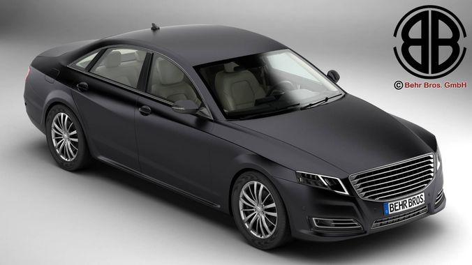 generic car luxury class 3d model max obj mtl 3ds fbx c4d lwo lw lws 1