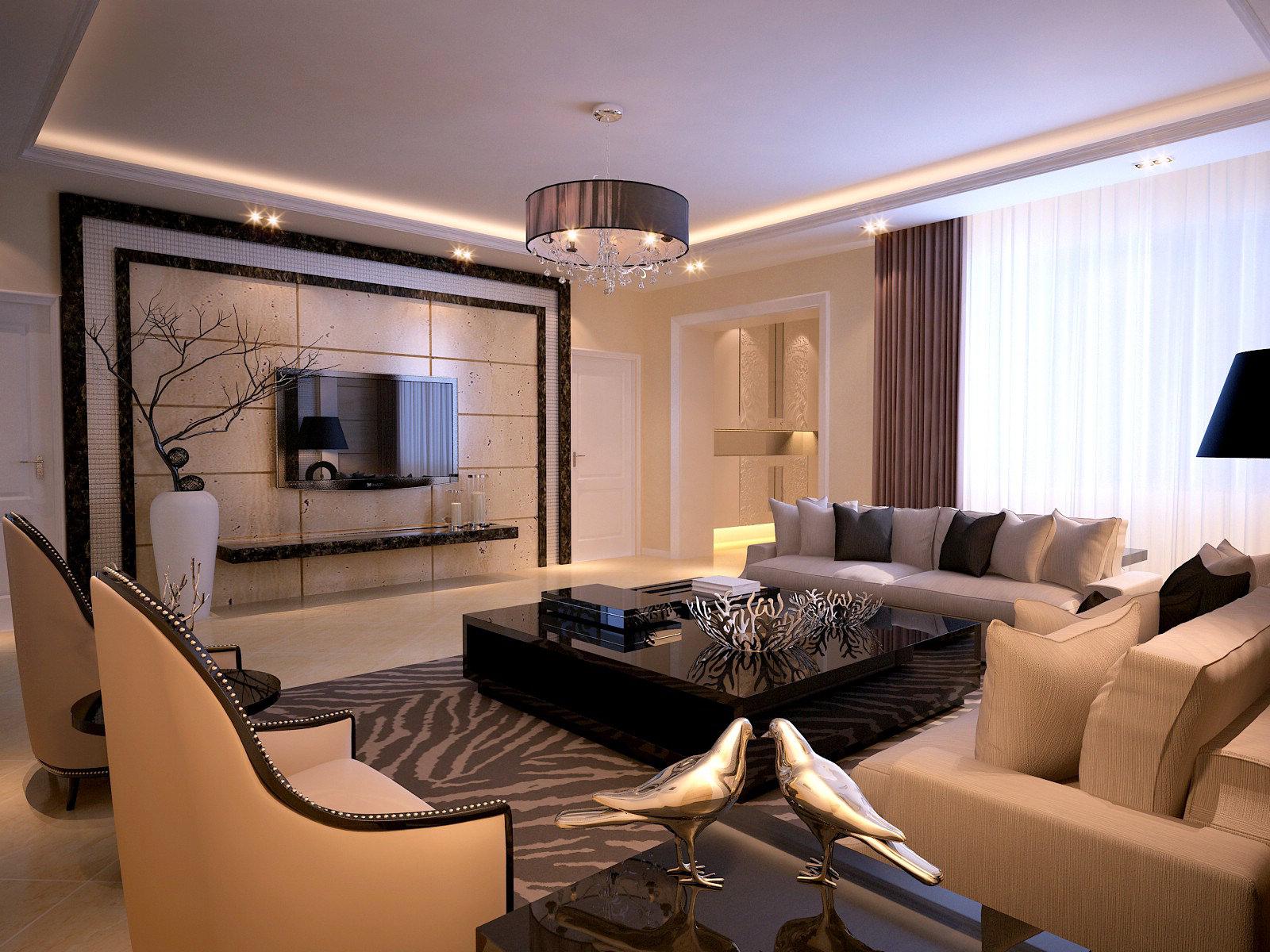 Modern Living Room living 3D | CGTrader