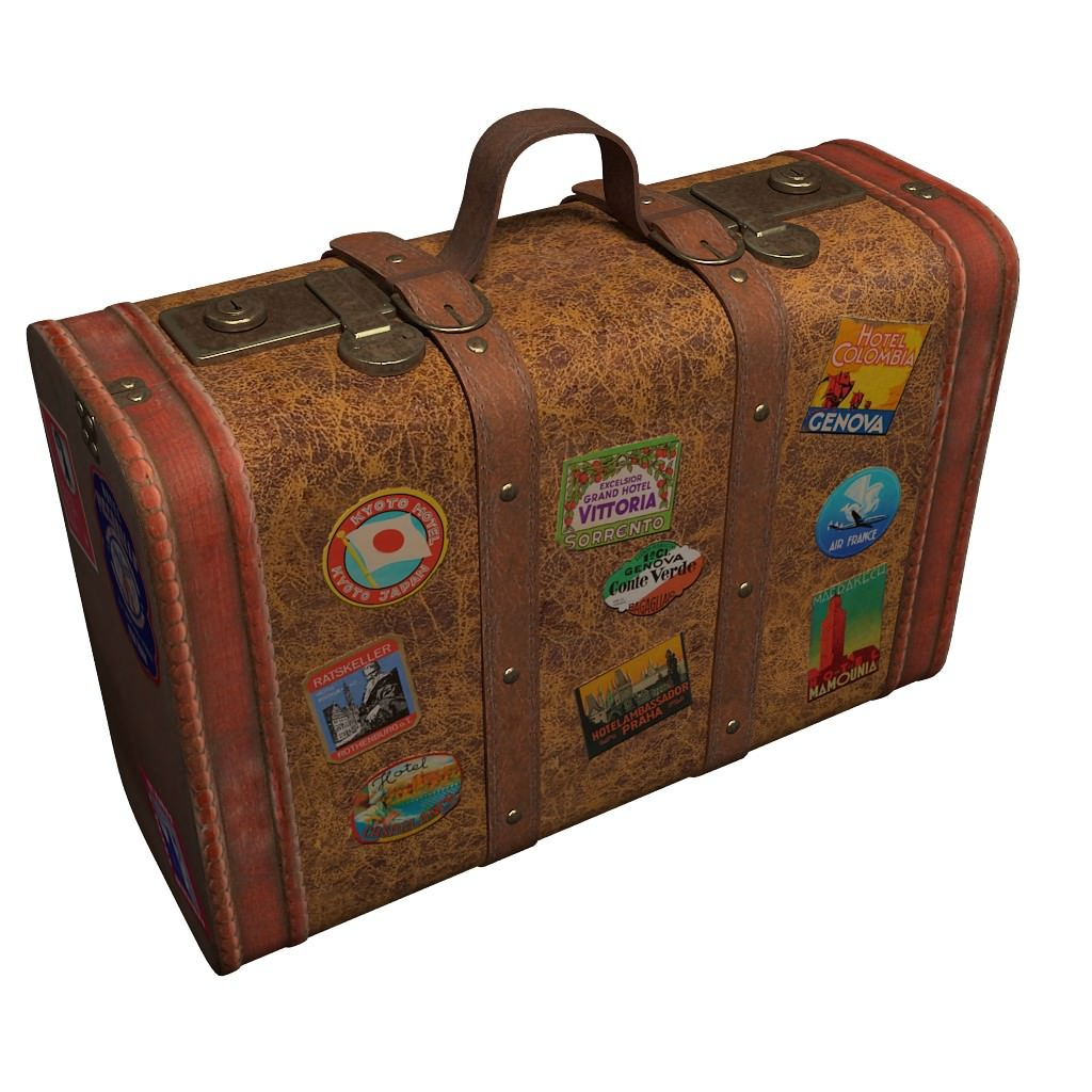 Old Suitcases Travel Suitcase 3d Model Max Obj Mtl