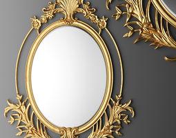 Baroque oval frame 3D