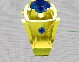 3d printable model rings saphire