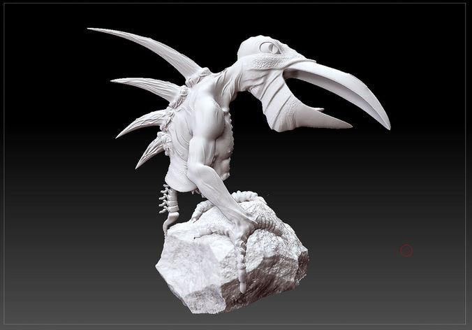 zeyun creature stl 3d model stl 1