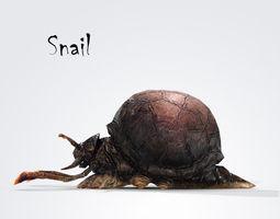 3D asset Snail