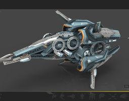 Drone V8 cybertech 3D asset