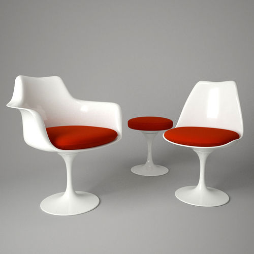 Tulip Chair and Armchair 3D CGTrader