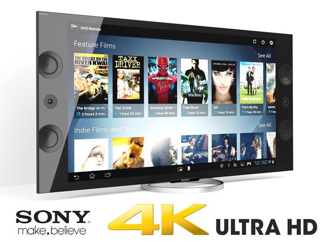 sony xbr 4k ultra hd tv 3d model max obj mtl fbx 1