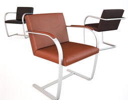 knoll brno chair collection 3d model max obj fbx