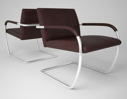 Knoll Brno Lounge Chairs 3D Model