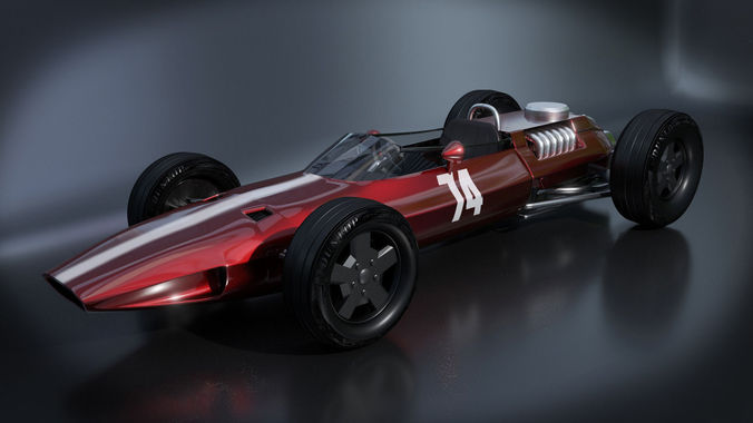 Classic Formula 1 Racing Car 3d Model Obj 3ds Fbx Blend Mtl 1 ...