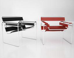 Knoll Wassily Chair 01 3D Model