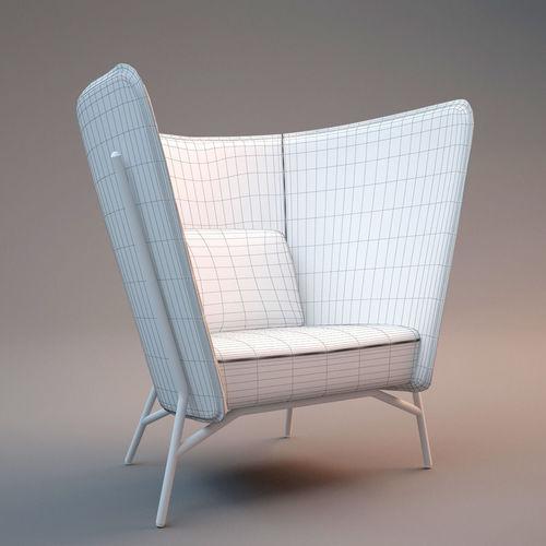 Inno Aura Easy Chair Free 3d Model Max Obj Fbx Cgtrader Com