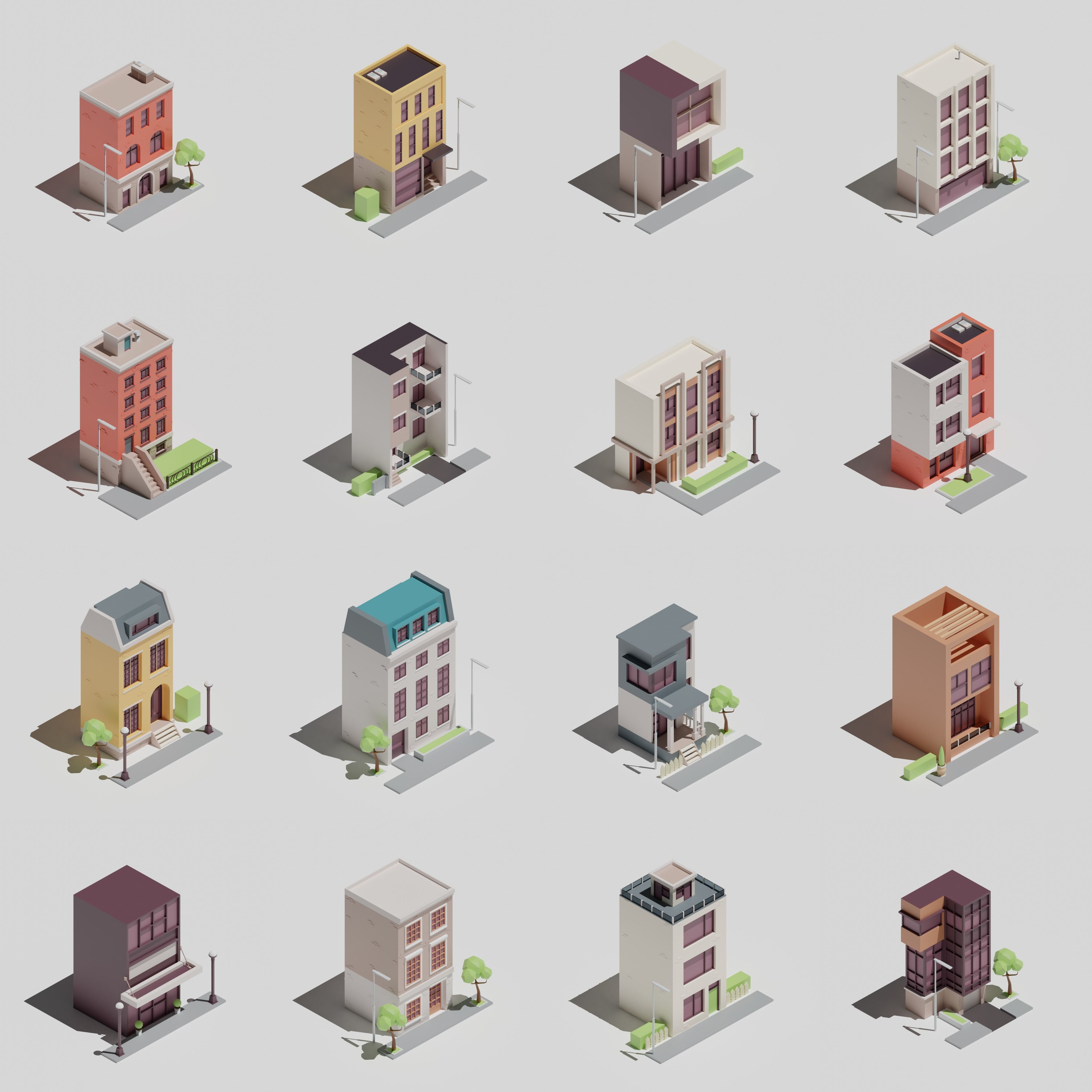One-sided buildings 1